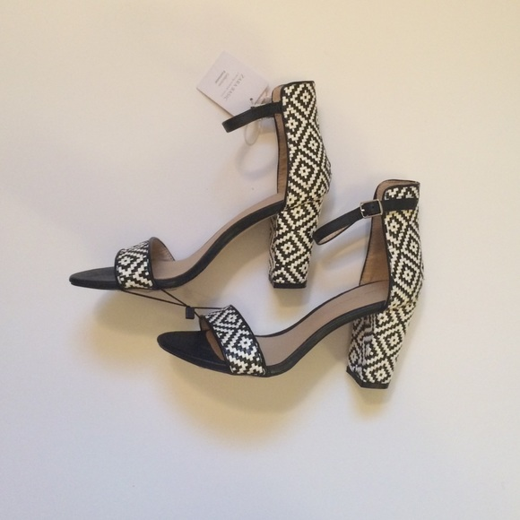 Zara woven ankle strap heels/sandals
